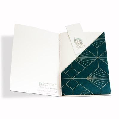 Pochette intérieure du carnet agrippine pour ranger tous tes souvenirs
