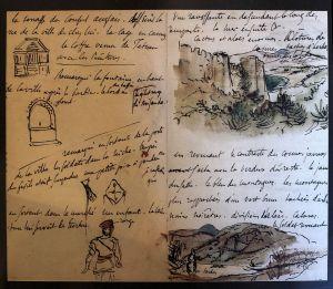 s'inspirer d'un des 5 carnets de voyage de Delacroix qu'il nous restte