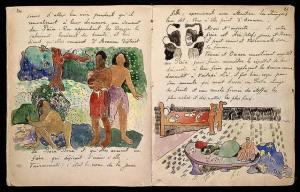 Carnet de voyage de Gauguin Noa Noa
