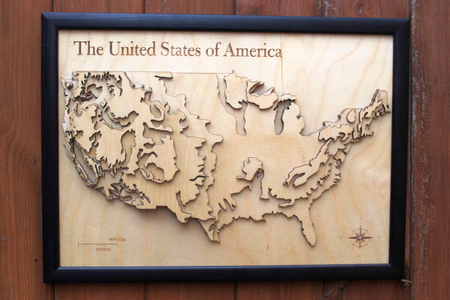 D USA Map Wooden Topographical Map United States Of America Map - United states map picture frame