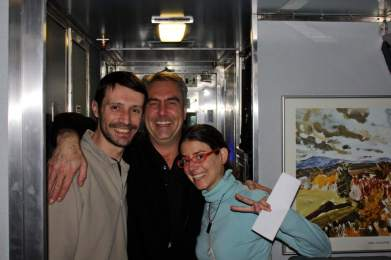 Amigos en el tren