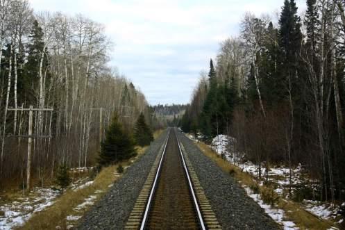 Vías de tren en Canadá