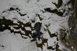 Victor en cascada congelada 1