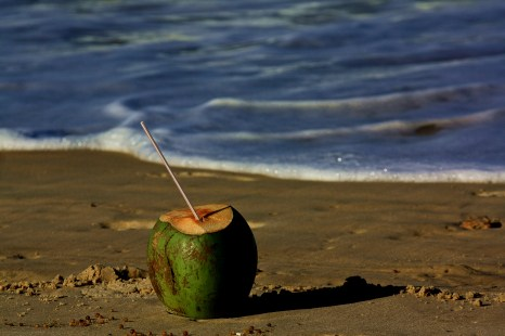 Un rico agua de coco
