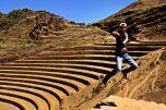 Andeneso terrazas de cultivo en Pisac