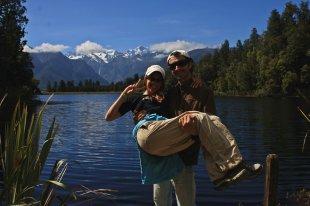 Ruth y Victor en el lago Matheson