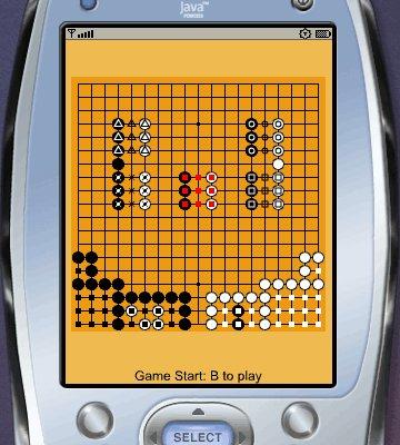 Programmer pour téléphone portable Symbian, le jeu de Go TinyGo