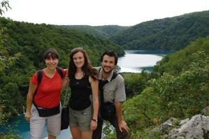Groupe en voyage au parc de Plitvice