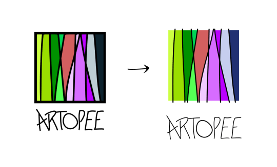 Différence entre deux versions du logo