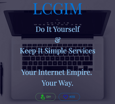 LCG Internet Marketing's landing page