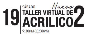 Inscripciones a taller de arte, Taller virtual de acrilico, Inscripciones a taller virtual