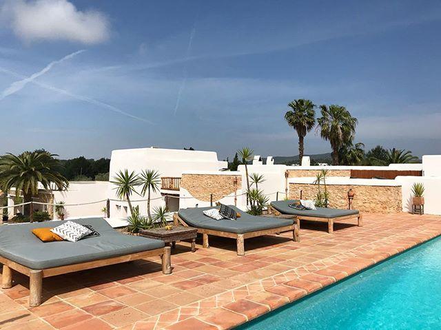 // some already had their first dip 💦 // #pool #april #weekend #sunisout #summer2018 #summerisnear #ibiza2018 #ibiza #lascicadasibiza #boutiquevilla #style #design #holidayhome #ibizastyle #finca #casapayesa #vacation #destination #itsbetterinibiza #intheheartoftheisland🌴🌻
