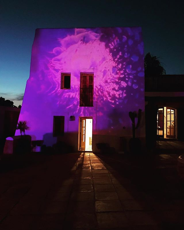 // Night Lights // #privateevent #art #projections #specialnight #specialevent #villa #finca #theplacetobe #boutiquevilla #eventstyling #lascicadasibiza #cicadascelebrations #ibiza 💜
