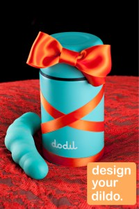 Dodil, Swedish sex toy, green thermos flask, orange highlights, interview with erotic marketing agency, Lascivious Marketing [credit: Dodil]