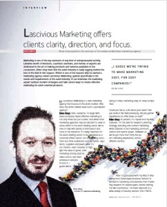 Leading insight-based erotic marketing agency, Lascivious Marketing. Founder, Brian Gray, interviewed in EAN erotic retail magazine May 2017 text (c) Lascivious Marketing, image design (c) EAN