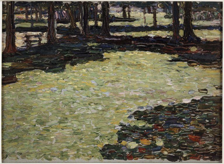 Park von Saint-Cloud, Waldlichtung (Parque de Saint-Cloud, claro) [1906 - 1907].