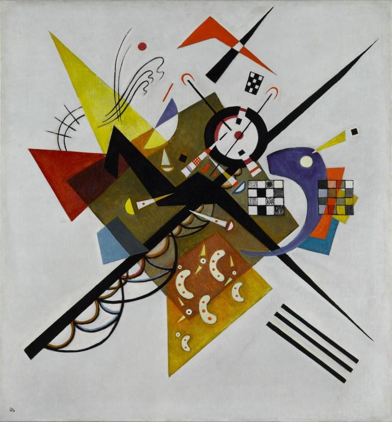 Auf Weiss II (En blanco II), 1923. Óleo sobre lienzo 105 x 98 cm.