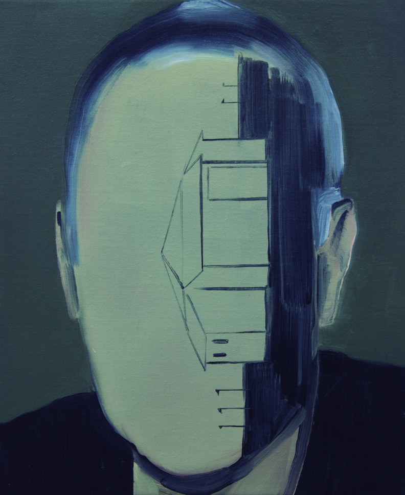 Jan Monclús.The resistance on luc tuymans CMYK. 2015. oleo sobre lino. 46x38cm