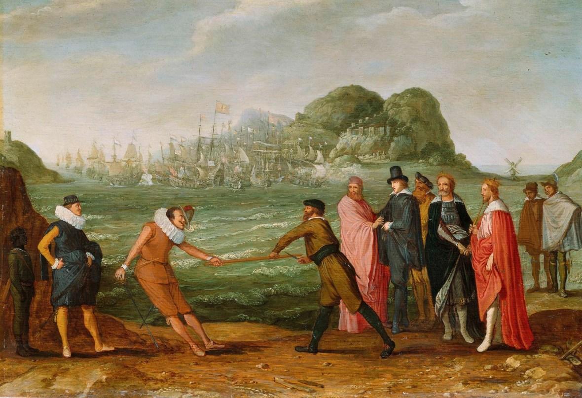 05.- Adam Willaerts_Allegorie op de overwinning van de Hollandse op de Spaanse vloot bij Gibraltar, 25 april 1607, ca. 1615-ca. 1630_Rijksmuseum, Ámsterdam