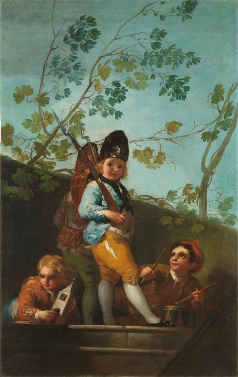 10-. Francisco de Goya y Lucientes Muchachos jugando a soldados_1779©Archivo Fotográfico. Museo Nacional del Prado