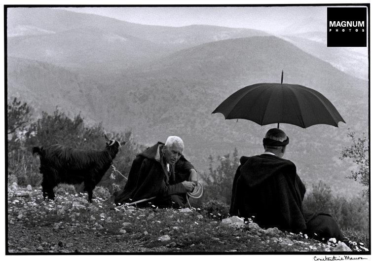 "Grecia. Crete. 1964. Shepherds with goat. ""A Greek Portfolio"""