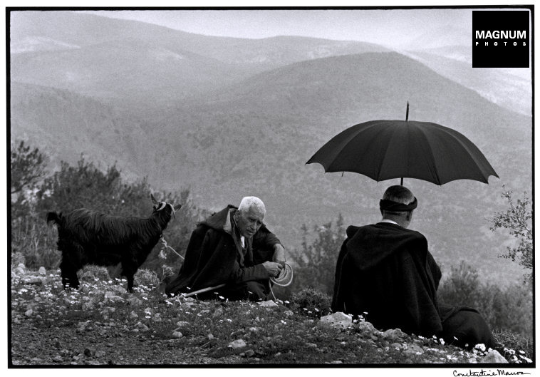 "Grecia. Crete. 1964. Shepherds with goat. ""A Greek Portfolio"""