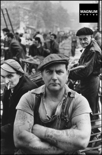 FRANCE. Paris. 1st arrondissement. Les Halles, central market. 1952.