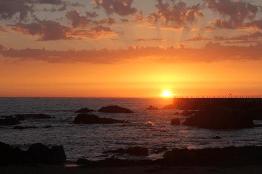 puesta de sol, Matosinhos, Oporto, Portugal, sunset, Atlántico