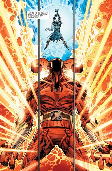 Thor contra Surtur en Ragnarök de Walter Simonson
