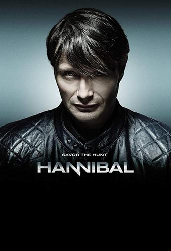Poster Hannibal de la serie, con Mads Mikkelsen.