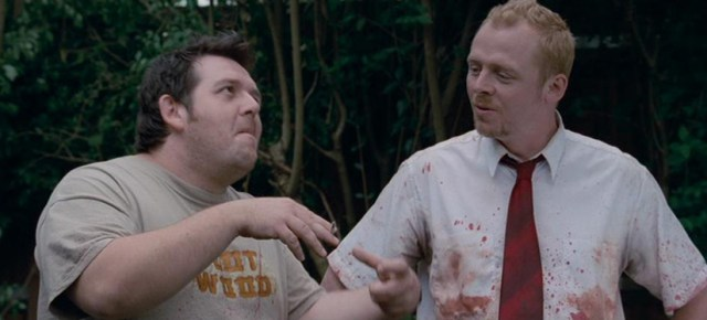 Nick Frost y Simon Pegg en una escena de Shaun of the Dead