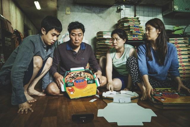 La familia Kim de Parásitos.