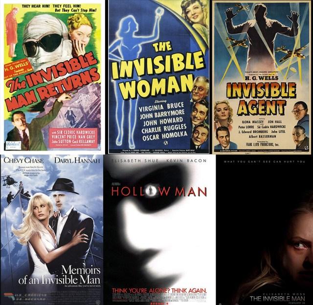 Remakes de El hombre invisible