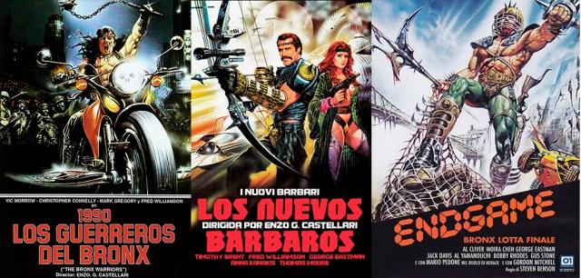 Cine de la italian exploitation. 'Los guerreros del Bronx', 'Los nuevos Bárbaros', y 'Bronx: Lucha Final'