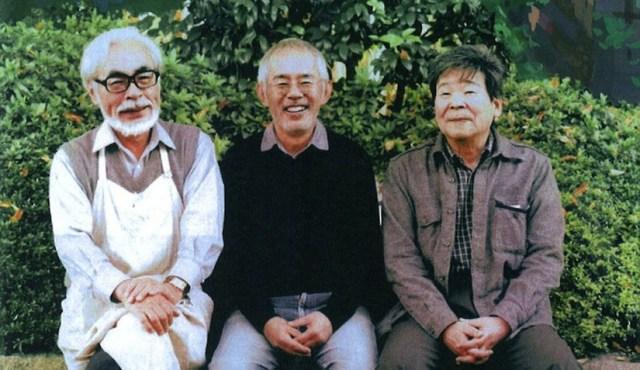 Hayao Miyazaki, Toshio Suzuki y Isao Takahaka