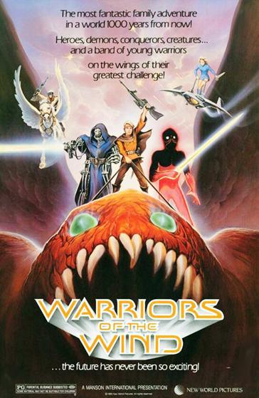 Poster de 'Los Guerreros del Viento' (Warriors of the Wind). Así se conoció 'Nausicaä del Valle del Viento' en occidente.