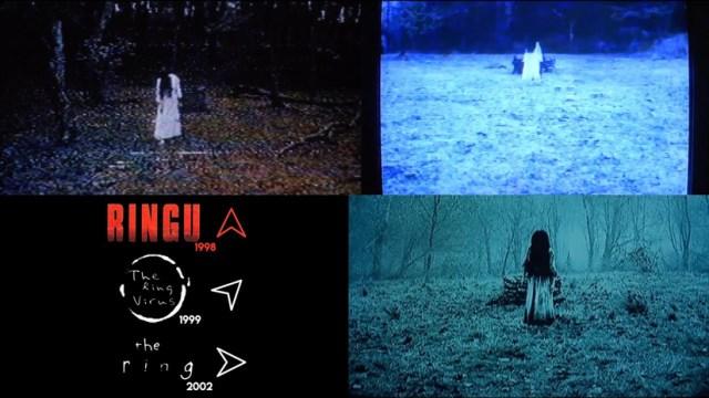 Las diferentes versiones de The Ring. Versión japonesa, la coreana y la americana.