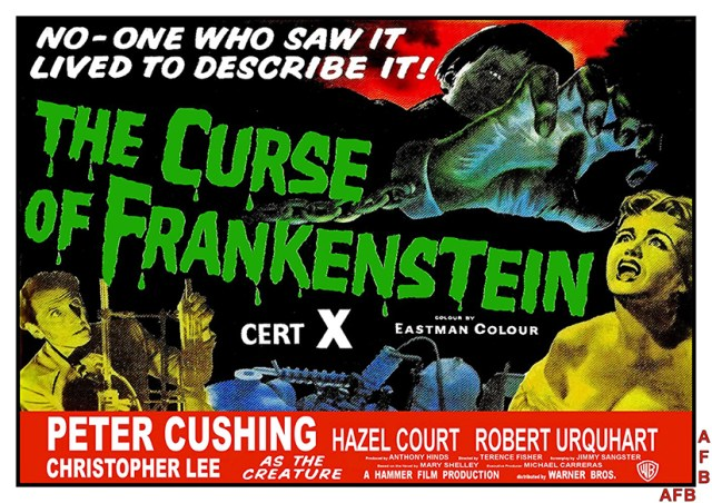 Poster La maldición de Frankenstein (The Curse of Frankenstein 1957), de Terence Fisher