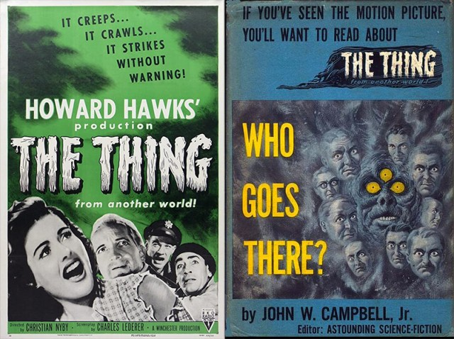 El enigma de otro mundo (1951, Howard Hawks) y la novela 'Who goes there' (1938, John W. Campbell)