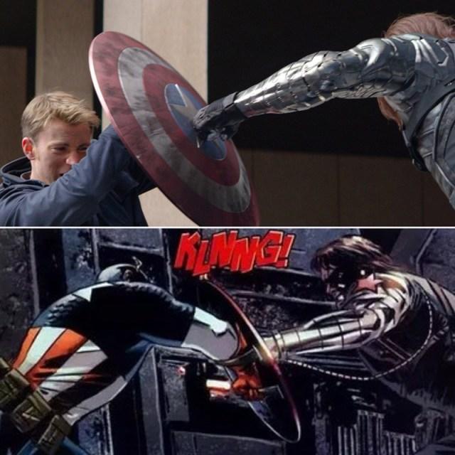 Capitán América: Soldado de Invierno. Comparación película y cómic