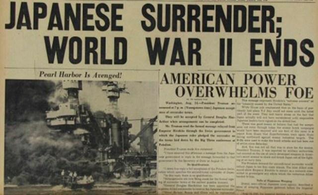 Noticia sobre la rendición de Japón ante las fuerzas aliadas en 1945. Especial Cine coreano: Ocupación japonesa de Corea