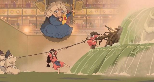 El viaje de Chihiro. El salón de baños y el dios pestilente