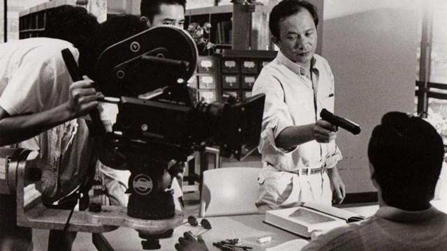 John Woo dando instrucciones a Tony Leung en Hard Boiled