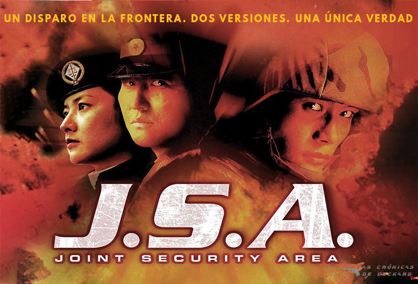 Poster JSA (2000) de Park Chan-wook. Critica Las Crónicas de Deckard