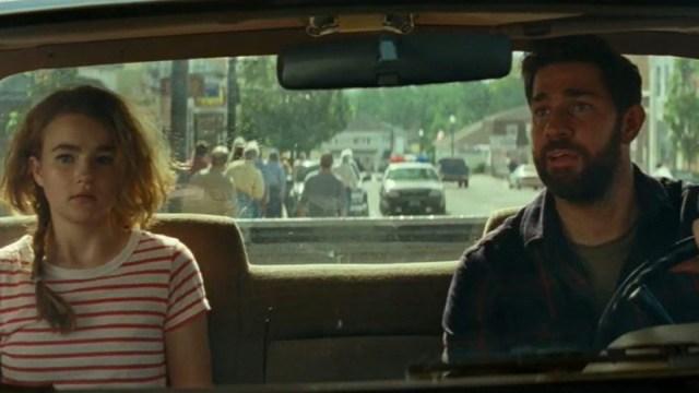 John Krasinski y Millicent Williams en Un lugar tranquilo 2