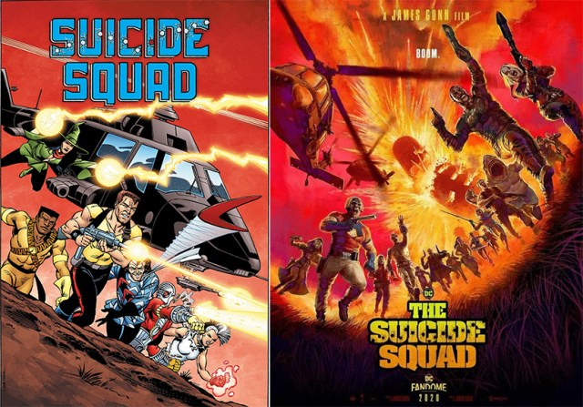 The Suicide Squad movie poster 2021 and Suicide Squad comic
