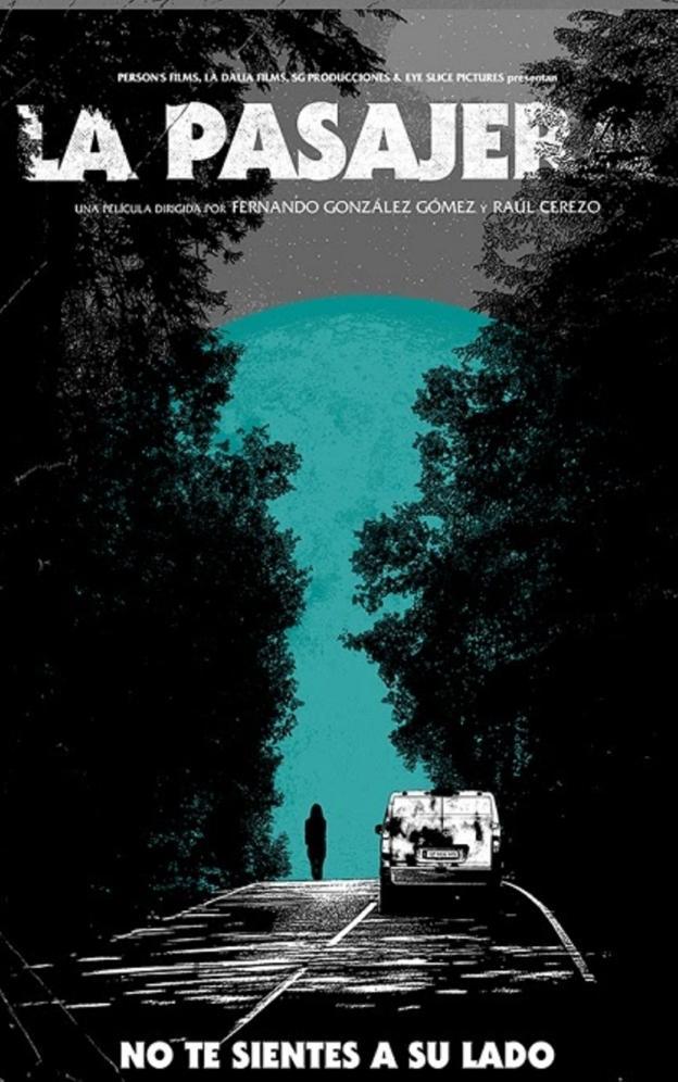 Poster de 'La Pasajera' de Raúl Cerezo y Fernando Gonzáles Gómez. Sitges 2021