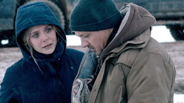 Elizabeth Olsen y Jeremy Renner en Wind River, de Taylor Sheridan.