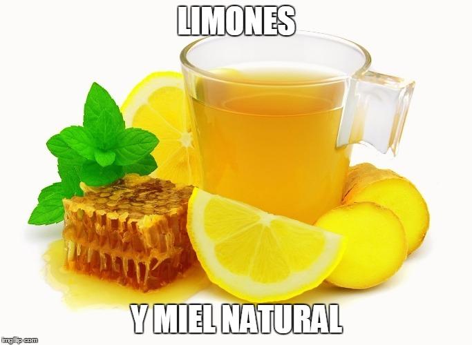Remediso caceros para la tos limones y miel natural