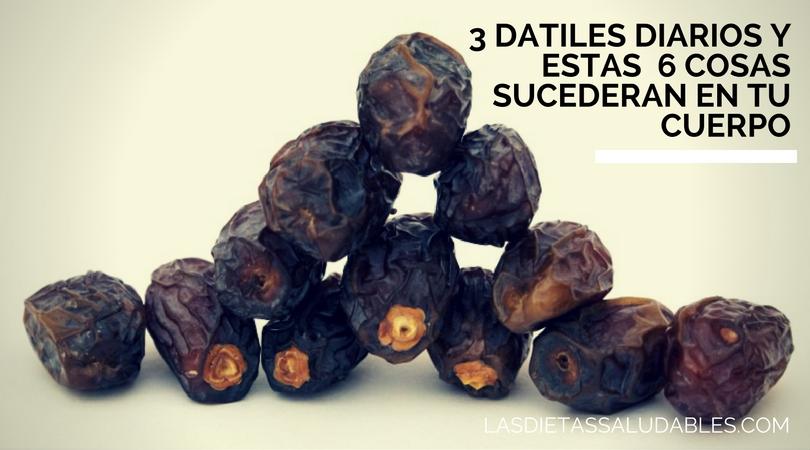Comer Datiles – 3 Datiles Diarios y Estas  6 Cosas Sucederan en tu Cuerpo